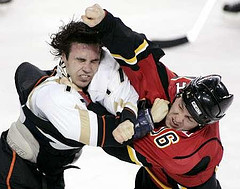 hockey calgary fight