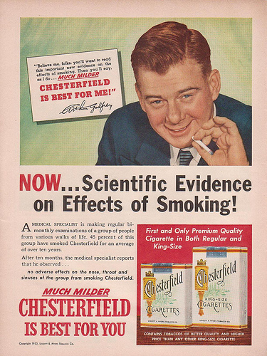 A Medical Specialist Reports No Adverse Effects On The Nose Throat And Sinuses From Smoking Chesterfield