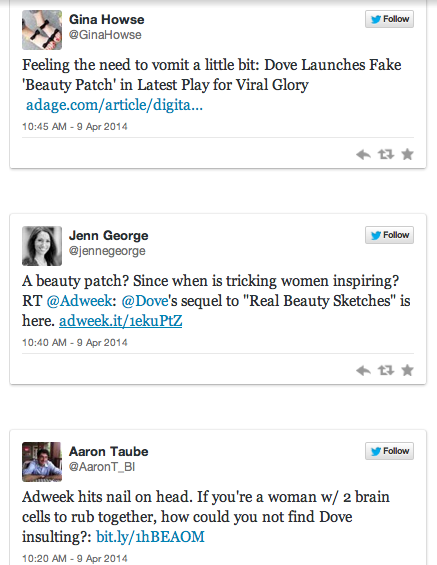 Another insulting Dove ad: the Dove Beauty Patch